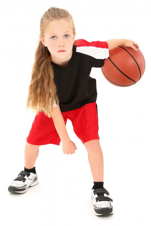 bigstock-Serious-Girl-Child-Basketball--22015613